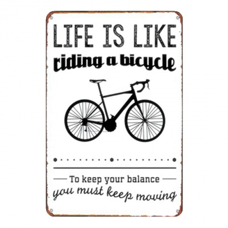 blikposter-life-is-like-riding-a-bicycle_2003416053