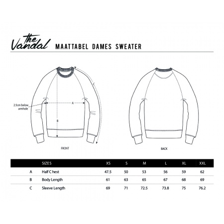 maattabel_dames_sweater